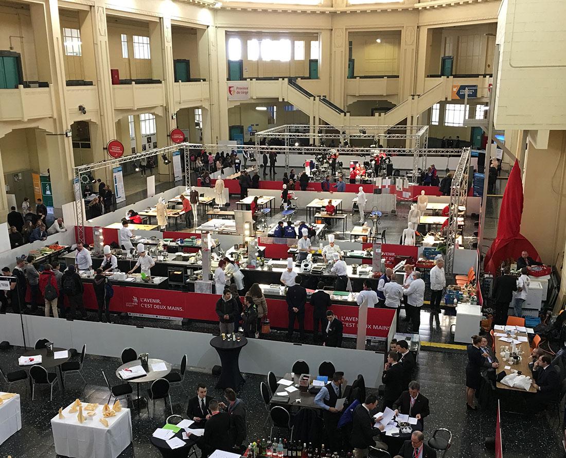 Olympiades des métiers cuisine mobile Belgium Worldskills